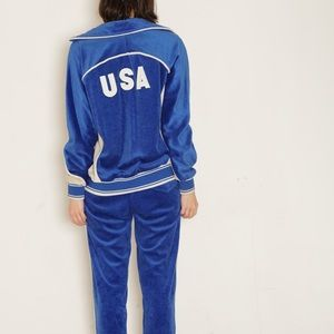 Vintage Other - '80s vintage // levi's olympic velour tracksuit
